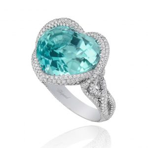 Gemstone Jewelry - Paraiba tourmaline set in a Chopard ring