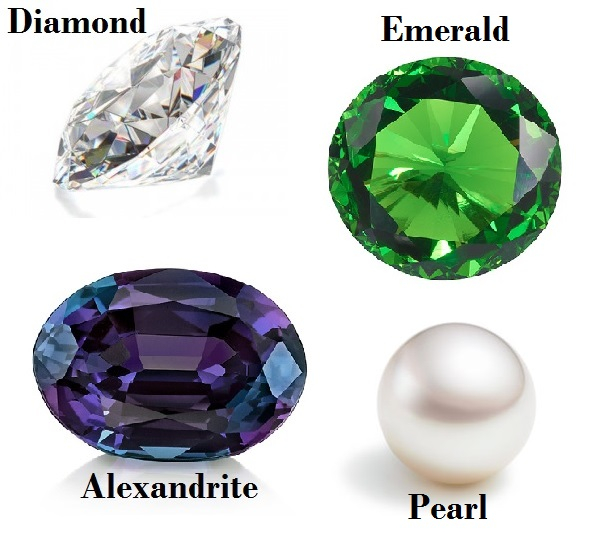 Birthstones for April May June