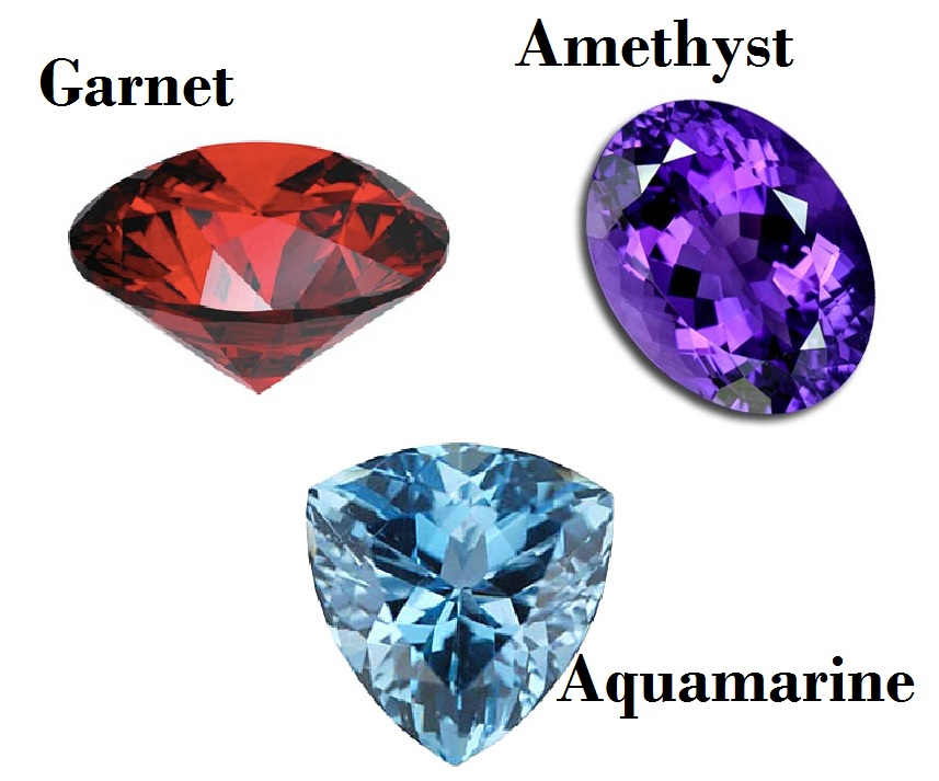 Birthstones for January February and May