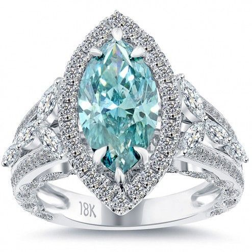 Colored Diamond Engagement Ring