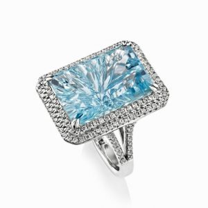 Gemstone Jewelry - aquamarine cocktail ring by Sheldon Bloomfield