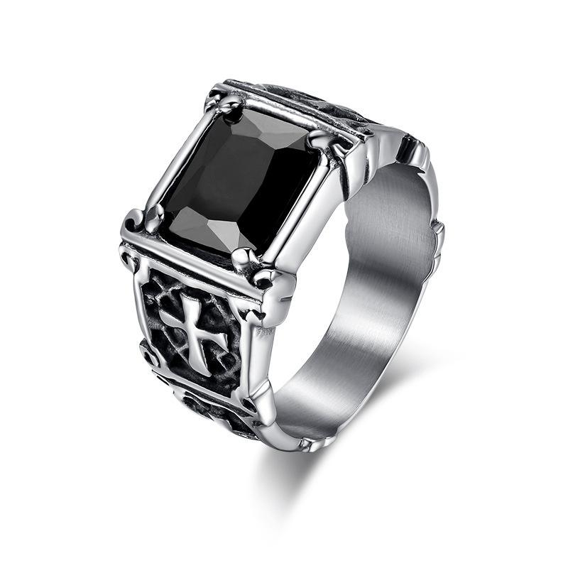 Men Jewelry Trends - Black stone men's ring