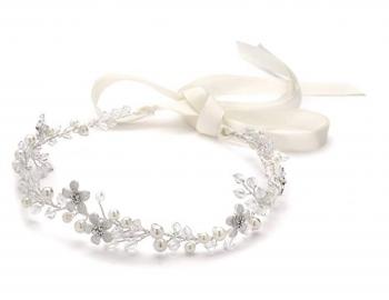 Wedding Bridal Headpieces: Headbands : Roses and Pearls Headband