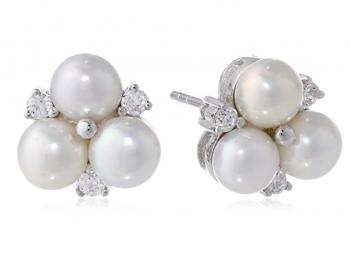 Bella Pearl Cluster Earrings