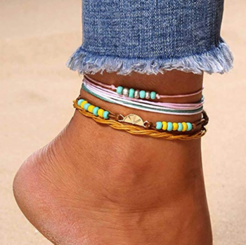 Zoestar Fashion Beaded Anklet Ankle Bracelet Woven Foot Chain Accessories Jewelry for Women and Girls by Zoestar