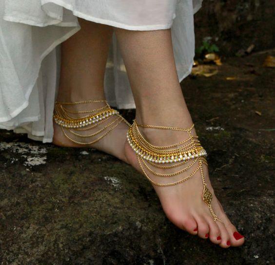 wedding ankle bracelets
