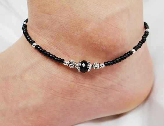 beaded ankle bracelets