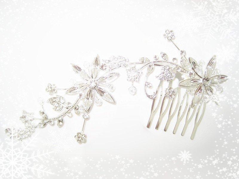 Ideal Wedding Jewelry - crystal hair pin wedding jewelry