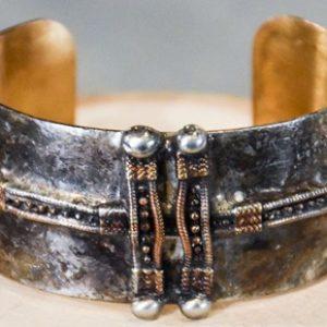 Industrial Brass Cuff