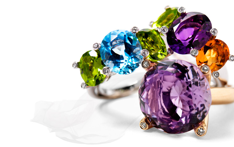 New At RENESIM: Color Stone Rings in Various Designs