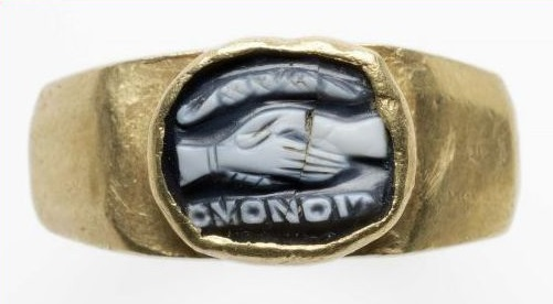 wedding ring history - roman wedding ring