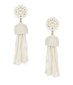 tassel pearl earrings