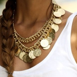 Egyptian Jewelry Coin Necklace