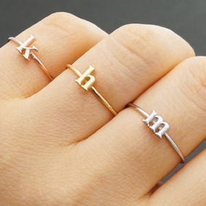 Personalized Jewelry Initial Ring