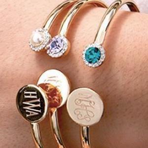 Personalized Jewelry Birthstone Cuff