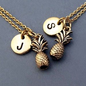 Personalized Jewelry Initial Fruit Necklace
