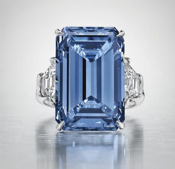 Oppenheimer Blue Diamond Ring - Record Breaking Jewelry
