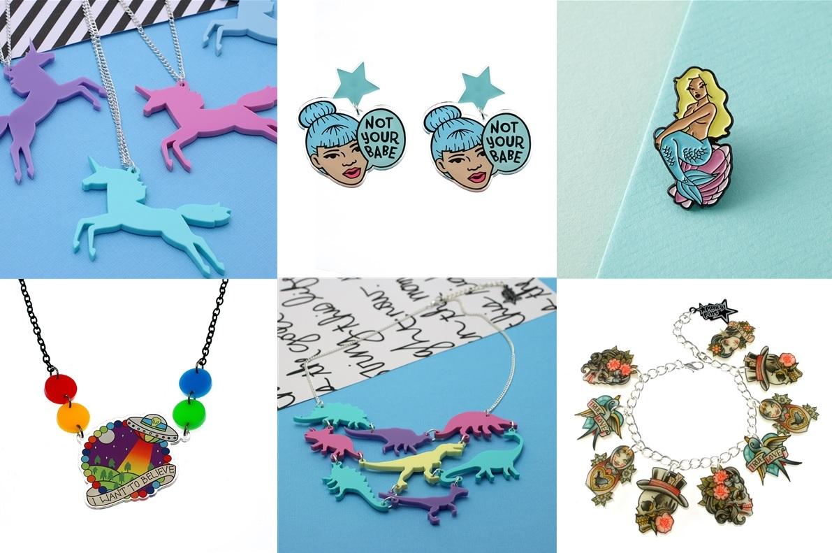 Punky Pins Acrylic Jewelry Brand