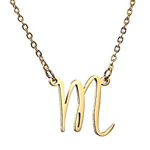 AOLO Initial Necklace