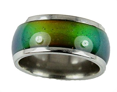 8mm Solid Heavy Gauge Stainless Steel New Thinner Band Mood Ring 70's Style Not Cheap Very Good Quality