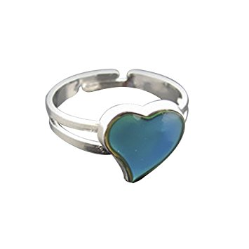 CJESLNA Color Changeable Heart Mood Ring