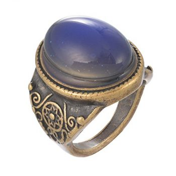 Mjartoria Oval Antique Bronze Mood Ring
