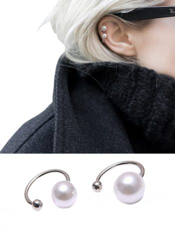 Pink Universe Pearl Ear Clip