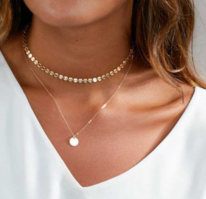 silver and gold chokers