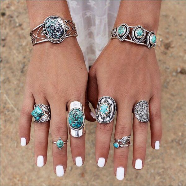 cheap turqoise rings