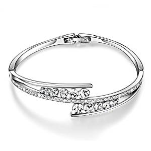 Menton Ezil Love Encounter Swarovski Crystals Bangle Bracelets