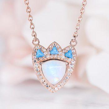 14kt Rose Gold Vermeil Moonstone Necklace - Ar