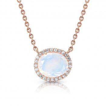 14kt Rose Gold Vermeil Moonstone Necklace - Spirit Keeper