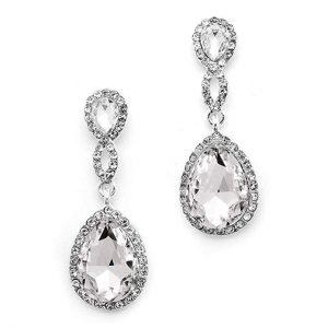 10. Mariell Dazzling Earrings - Infinity Symbol Jewelry