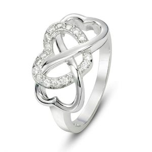 3. Metal Factory925 Sterling Silver Cubic Zirconia Infinity