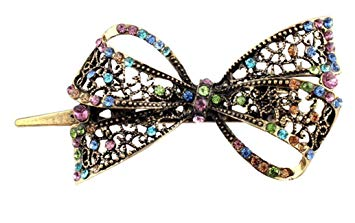 Leegoal Lovely Vintage Jewelry Crystal Bowknot Hair Clips Hairpins- For Hair Clip Beauty Tools