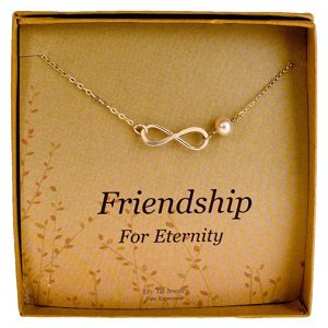 8. Efy Tal Jewelry Sterling Silver Infinity Necklace