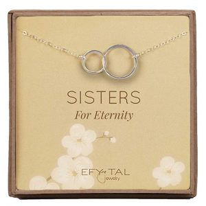 9. Efy Tal Jewelry Sterling Silver Sisters Necklace - Infinity Symbol Jewelry