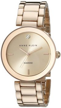 Anne Klein Women's Rose Goldtone Bracelet Watch