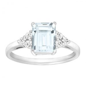 Finecraft 1 5/8 ct Natural Aquamarine & White Topaz