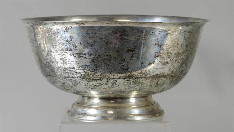 Gorham Paul Revere sterling silver round center bowl