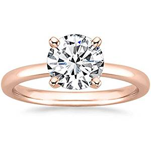 Houston Diamond District 3 4 Carat GIA Certified 14K White Gold Solitaire Round Cut Diamond Engagement Ring (0.75 Ct G-H Color, SI1-SI2 Clarity)
