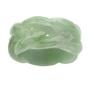 Lux Genuine Green Jade Eternity Ring