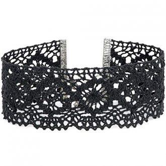 Twilight's Fancy Floral Elastic Stretch Lace Choker Necklace