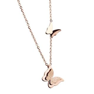 WDSHOW Rose Gold Stainless Necklace