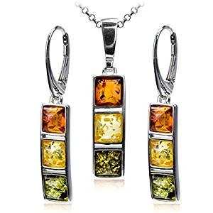 amber multicolor earrings