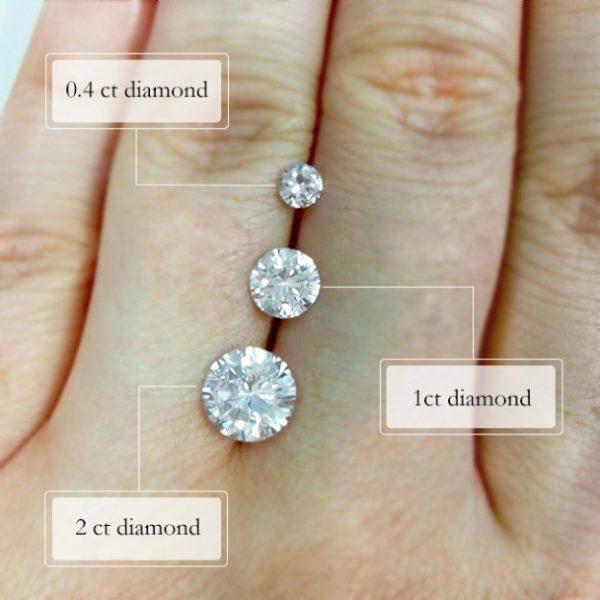 carats engagement ring