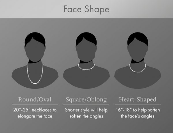 face shape and necklaces