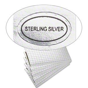 sterling silver label
