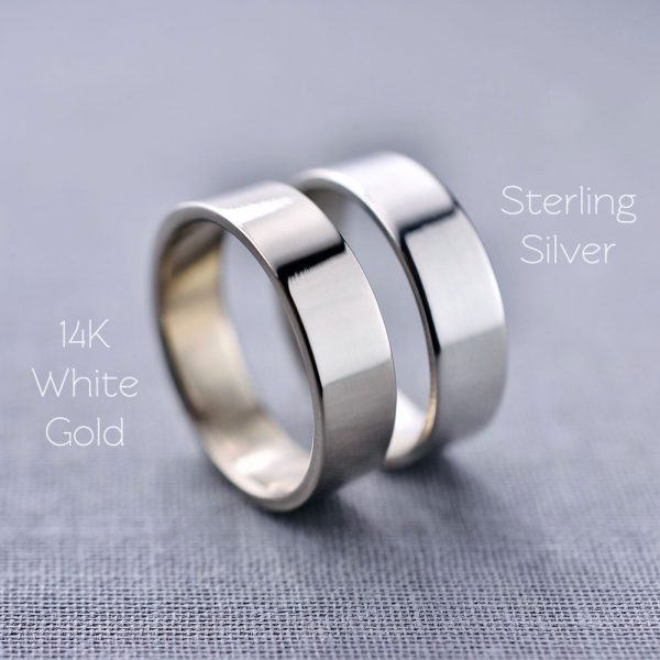 sterling silver or white gold