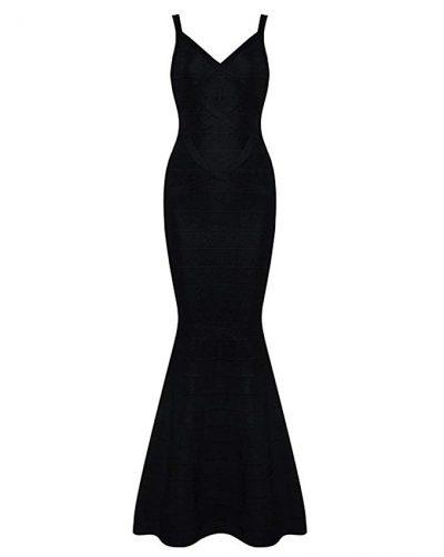 v neck gown